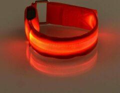 Mundo 2 stuks Led verlichte armband (rood) voor sportievelingen die hardlopen, fietsen en wandelen en verder iedereen die in het donker gezien wil worden - Sport armband - Hardloop verlichting lampjes - Veiligheidsband - Reflecterende armband