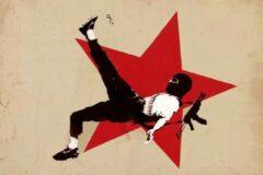 HouseOfArt BANKSY Football Terrorist Zapatistas Mexico Canvas Print