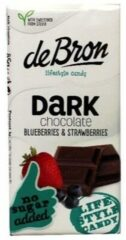 De Bron Suikervrije Tablet Dark Chocolate Blueberries & Strawberries