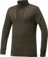 Woolpower - Zip Turtleneck 200 - Merino-ondergoed maat XXL, olijfgroen/zwart