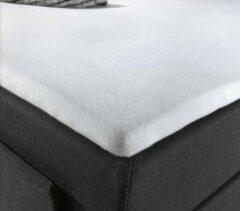 Witte Zware Eenpersoons Topper Molton Hoeslaken | 90/100x200/210/220 | Ideale Topmatrasbeschermer | Perfecte Pasvorm