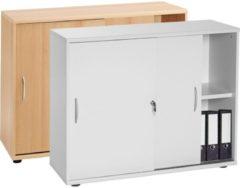 Sideboard Ordner Schrank Akten Büro Möbel Regal mit Schiebetüren 'Aktano 470' Universalschrank 76 x VCM Buche