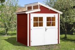 Rode WEKA | Tuinhuis 226 | 205 x 209 cm | Zweeds rood