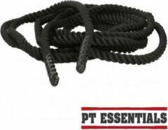 Zwarte PTessentials COREPOWER battlerope / battle rope / gym rope 15 meter 38 mm