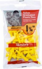 "Gele Masters - Graduated Tees 1 3/4"" Yellow 30 stuks"