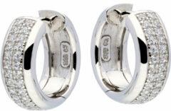 Best Basics Zilveren Klapcreolen met zirconia 7,5 mm 107.0285.16
