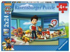 Ravensburger puzzel Paw Patrol Hulpvaardige speurneuzen - Twee puzzels - 24 stukjes - kinderpuzzel
