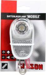 Simson White Koplamp - Fietslamp - Batterij - LED - Zilver