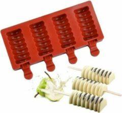 MTCE Twister Magnum Siliconen Bakvorm - Popsickle - Magnums Maker - Ijs Maker - Ijs mold - Chocoladevorm - Bakvormen - Siliconen mal - Kleur Bruin