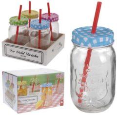 Trinkglas-Set HTI-Living Klar, Mehrfarbig