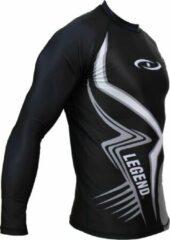 Legend Sports Sportshirt Legend DryFit Zwart/grijs lange mouwen Sublimation XXL