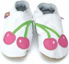 Wit leren babyslofjes van Starchild, Cherry XL (15,5 cm)