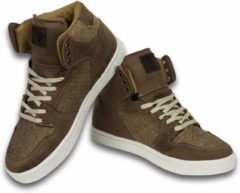 Beige Cash Money Cash M Heren Schoenen - Heren Sneaker High - Riff Taupe - Maten: 41