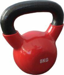 Kettlebells 8 kg gietijzer - Rood | 1 stuk | Mambo Max | Gietijzer