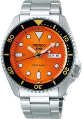 Seiko 5 Sports SRPD59K1 Herenhorloge automaat oranje wijzerplaat 42,5 mm
