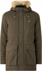 Lyle & Scott - Heren Jas winter Winter Weight Microfleece Lined Parka - Groen - Maat S