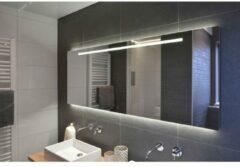 Rm & Co LoooX ML2-Line spiegel met indirecte LED boven en onder en geïntegreerde led-verlichting 140x70cm met tip-toets bediening