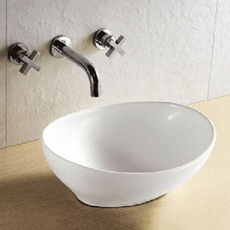 Afbeelding van Douche Concurrent Waskom Opbouw Barco Ovaal 40x14,5x33cm Keramiek Glans Wit