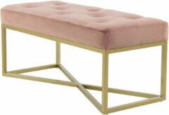 Kayoom Bankje 'Cameron' 90cm, kleur roze / goud