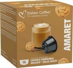 Italian Coffee - Amaretto Koffie - 16x stuks - Dolce Gusto compatibel