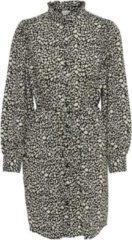 Beige Jacqueline De Yong Jdymilo L/s Frill Shirt Dress Wvn 15232659 Black/cloud Dance