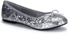 Merkloos / Sans marque Zilveren ballerina schoenen met glitters 40