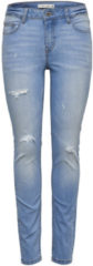 Donkerblauwe JACQUELINE De YONG, Dames Jeans, blauw denim