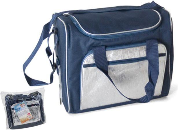 Afbeelding van Gerimport Koeltas/Coolbag 21 liter – Blauw/Zilver – 36x22x30cm