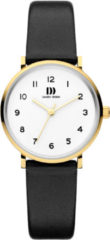 Gouden Danish Design watches edelstalen dameshorloge Yukon Gold White Small IV11Q1216