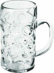 Transparante Santex Oktoberfest 1x Bierpullen/bierglazen 1 liter/100 cl/1000 ml van onbreekbaar kunststof - 1 liter pullen - Bierfeest/Oktoberfest pul - Bierpul glazen