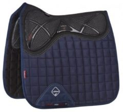 Marineblauwe LeMieux Le Mieux Zadeldek X-Grip Twin Sided Dressage Square