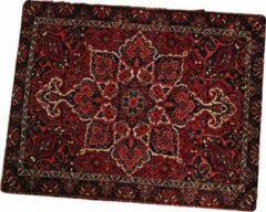 FineGoods Muismat tapijt - perzisch - muismatten - 18 x 22 cm - mouse pad - mousepad - rood - zwart - wit