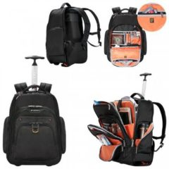 Quality4All Atlas Wheeled Laptop Backpack 13-Inch to 17.3-Inch Adaptable Compartme