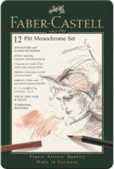 Witte Faber-Castell Faber Castell potlood Pitt Monochrome 12-delig etui