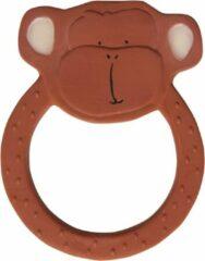 Bruine Trixie - Ronde bijtring natuurlijk rubber - Mr. Monkey