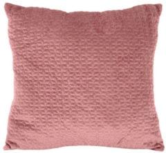 Present Time Sierkussens Cushion Hexagon Velvet Roze