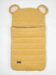 Gele Kinderhop Babyslaapzak 45 x 80 cm Dream Catcher Triangles Mustard 6 in 1 - Baby sleeping bag