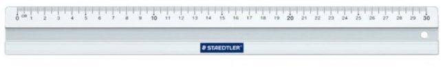 Afbeelding van Metalen lat Staedler Liniaal - 563 - 30 cm - Aluminium