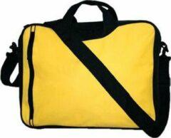 Merkloos / Sans marque Schoudertas voor laptop/documenten 15.6 inch kleur geel
