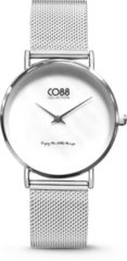 CO88 Collection Watches 8CW 10051 Horloge - Mesh Band - Ø 32 mm - Zilverkleurig