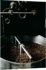 Grijze KuijsFotoprint Plexiglas - Koffiebonenmachine - 80x120cm Foto op Plexiglas (Met Ophangsysteem)