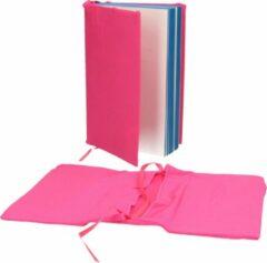 Merkloos / Sans marque Rekbare Boekenkaft voor Schoolboeken A4 2 Stuks Roze – 18x30x1cm