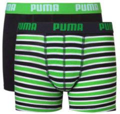 Groene Puma basic boxer printed stripe 2p - Sportonderbroek - Kinderen - classic groen - 128