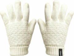 Witte SINNER Zion Knitted Wintersporthandschoenen Dames - Maat L/XL