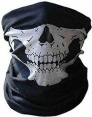 New Age Devi Balaclava Gezicht Shield Tactische Masker Wit 3D Schedel Sport Nek Warm Volgelaatsmasker Winddicht Motorfiets Mondkap Ski Outdoor Sport