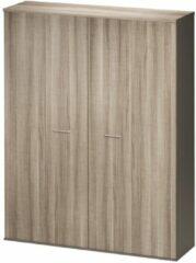Gamillo Furniture Opbergkast Jazz 211 cm hoog in grijs eiken met grijs