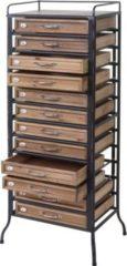 Heute-wohnen Apotheker-Schrank HWC-A43, Tanne Holz massiv Vintage Shabby-Look 129x55x38cm