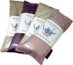 YoZenga oogkussen met Bergkristal & biologische lavendel | kristallen/edelstenen | Kleur: Linnenwhite | Yoga | Meditatie | Ontspanning | Ideaal bij hoofdpijn & stress klachten | Moederdag cadeau