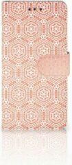 B2Ctelecom HTC U Play Bookcase Pattern Orange