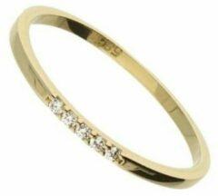 Hetty'S 14 karaat gouden ring met 5 zirconia's